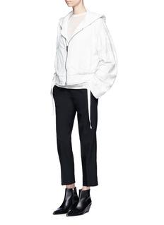 Haider AckermannStripe panel zip hoodie