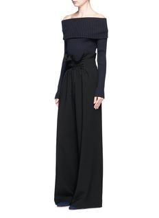 The Row'Roy' paperbag waist virgin wool wide leg pants