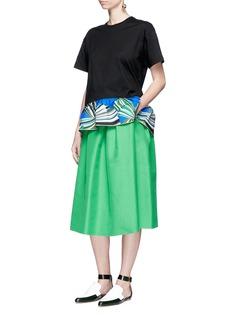 Emilio Pucci'Vortici' scarf print ruffle hem T-shirt