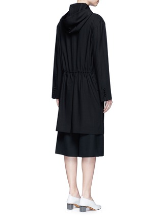 Back View - Click To Enlarge - Acne Studios - 'Lila' hooded wool coat