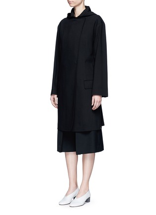 Front View - Click To Enlarge - Acne Studios - 'Lila' hooded wool coat