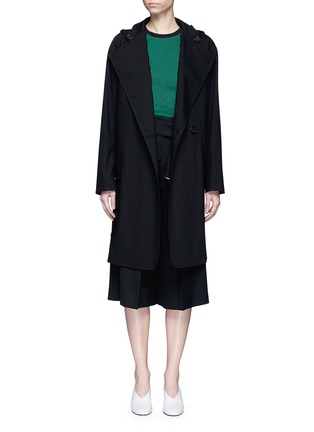 Main View - Click To Enlarge - Acne Studios - 'Lila' hooded wool coat