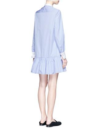 Back View - Click To Enlarge - Alexander McQueen - Peplum hem stripe poplin shirt dress
