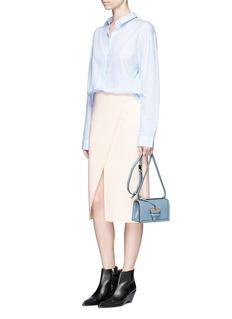 Acne Studios'Pau' diagonal slit crepe skirt