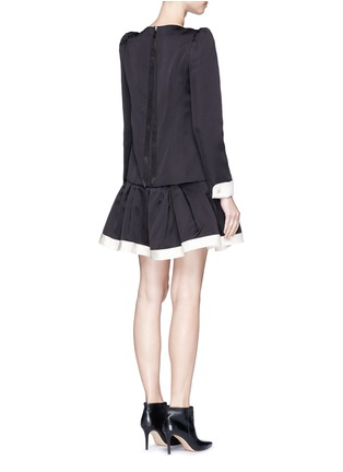 Back View - Click To Enlarge - Marc Jacobs - Ruffle skirt peaked shoulder drop waist dress