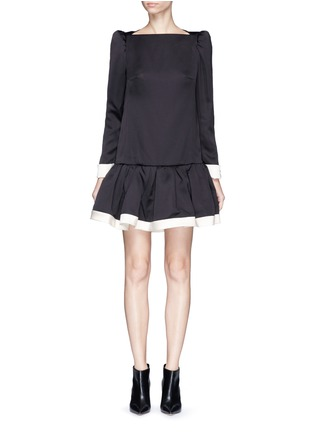 Main View - Click To Enlarge - Marc Jacobs - Ruffle skirt peaked shoulder drop waist dress