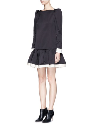Figure View - Click To Enlarge - Marc Jacobs - Ruffle skirt peaked shoulder drop waist dress