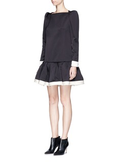 Marc Jacobs Ruffle skirt peaked shoulder drop waist dress