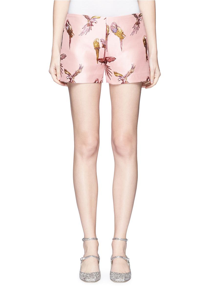 Parrot jacquard shorts by Giamba