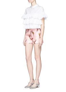 GiambaParrot jacquard shorts