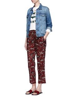 ISABEL MARANT ÉTOILEKlowia品牌标志亚麻卫衣