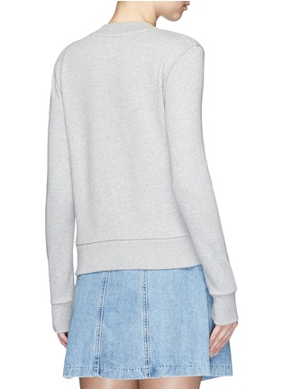 Back View - Click To Enlarge - Etre Cecile  - 'Frenchie' badge cotton fleece sweatshirt