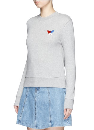 Front View - Click To Enlarge - Etre Cecile  - 'Frenchie' badge cotton fleece sweatshirt