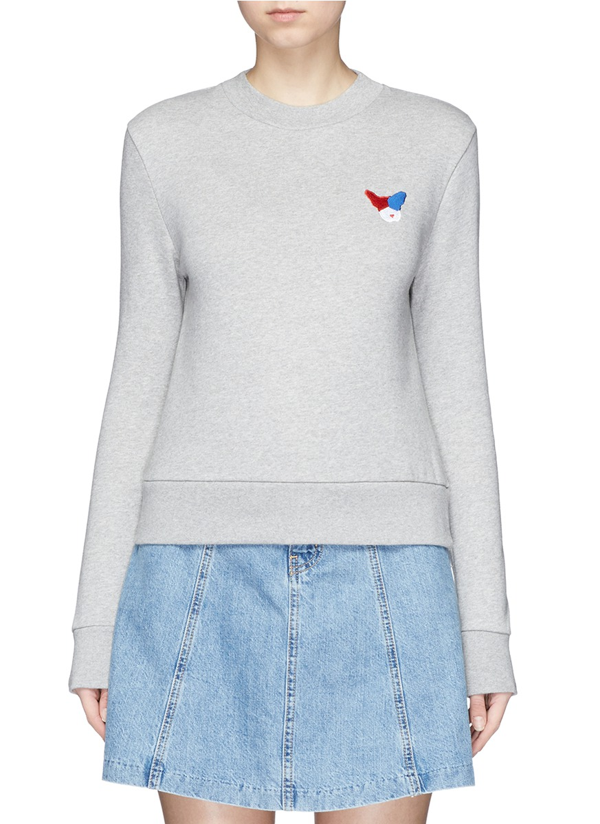 Frenchie badge cotton fleece sweatshirt by Etre Cecile