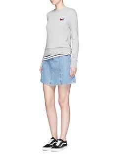 Etre Cecile 'Frenchie' badge cotton fleece sweatshirt