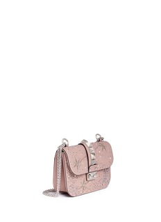 Valentino'Rockstud Lock' small galaxy embellished leather chain bag