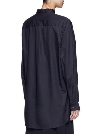 - FFIXXED STUDIOS - Knit front cotton poplin unisex shirt