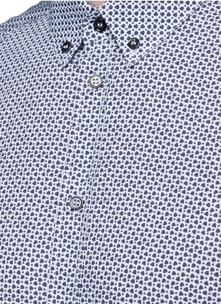 Detail View - Click To Enlarge - Dolce & Gabbana - 'Gold' slim fit heart print shirt
