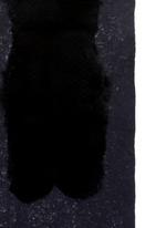 'Pan Di Zucchero' fur panel cashmere-silk scarf