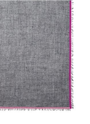 细节 - 点击放大 - FRANCO FERRARI - 天鹅绒镶边羊毛混羊绒围巾