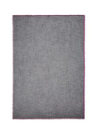 首图 - 点击放大 - FRANCO FERRARI - 天鹅绒镶边羊毛混羊绒围巾