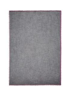 Franco Ferrari'Evans' velvet trim wool-cashmere scarf