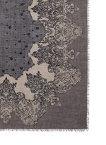'Tela' lace print cashmere scarf