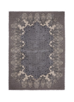 Main View - Click To Enlarge - Franco Ferrari - 'Tela' lace print cashmere scarf