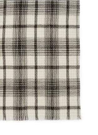 细节 - 点击放大 - FRANCO FERRARI - 格纹混羊毛围巾