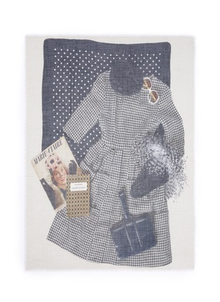 Main View - Click To Enlarge - Franco Ferrari - 'Evans Wash' outfit print wool-cashmere scarf