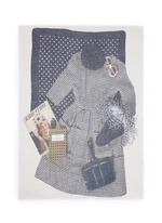 'Evans Wash' outfit print wool-cashmere scarf