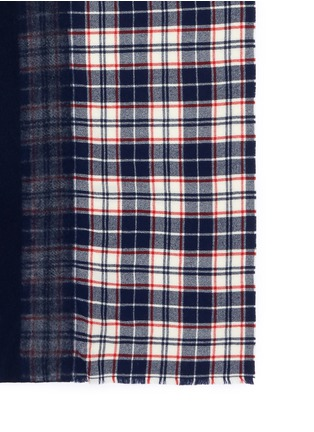 Detail View - Click To Enlarge - Franco Ferrari - 'Extreme Agugliato' check plaid gradient scarf