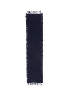Franco Ferrari'Abel' basketweave fringe cashmere scarf