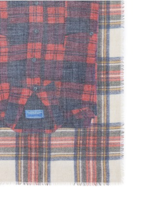 Detail View - Click To Enlarge - Franco Ferrari - 'Evans Wash' check plaid shirt print scarf