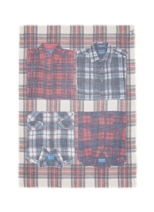 Main View - Click To Enlarge - Franco Ferrari - 'Evans Wash' check plaid shirt print scarf