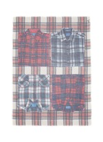 'Evans Wash' check plaid shirt print scarf