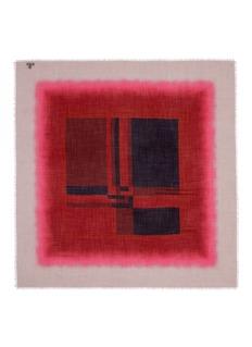 Franco FerrariGradient geometric print cashmere scarf