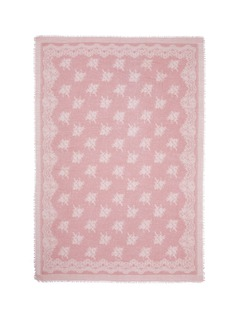 Franco Ferrari'Evans Wash' lace print wool-cashmere scarf