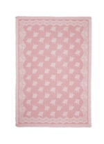 'Evans Wash' lace print wool-cashmere scarf