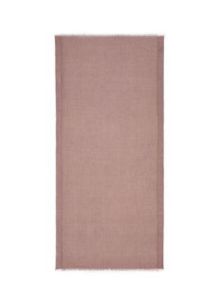 Franco Ferrari-'Notevole' brushed border cashmere scarf