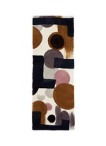 x Laboratorio Luparia 'Grido' print basketweave wool scarf