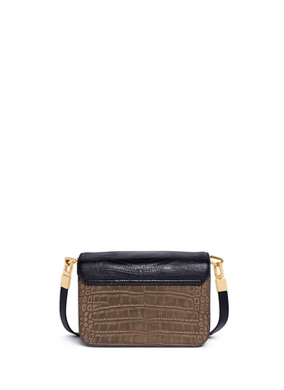 Back View - Click To Enlarge - Alexander Wang  - 'Prisma' small croc lizard embossed sling crossbody bag