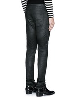 Slim fit coated stretch denim jeans
