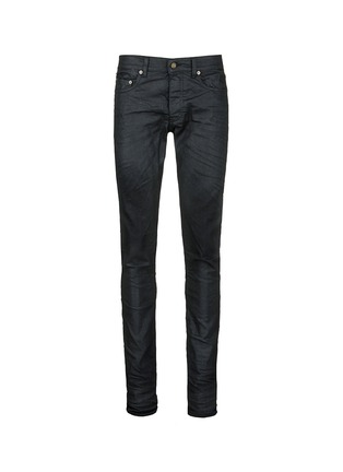Main View - Click To Enlarge - Saint Laurent - Slim fit coated stretch denim jeans