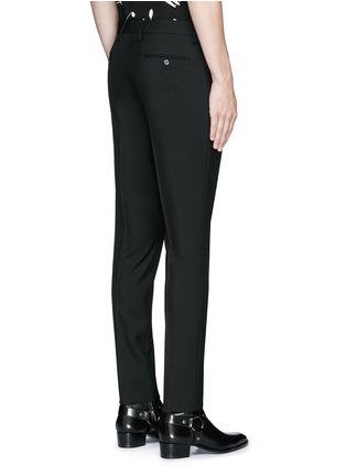 Back View - Click To Enlarge - SAINT LAURENT - Slim fit wool gabardine pants