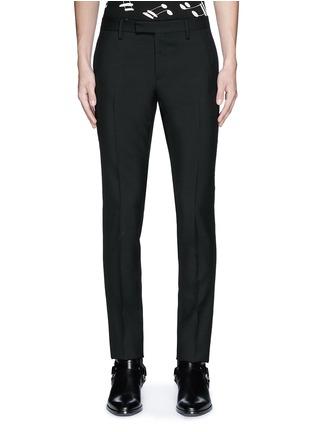 Main View - Click To Enlarge - SAINT LAURENT - Slim fit wool gabardine pants