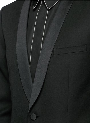 Saint Laurent - Satin shawl lapel wool tuxedo suit
