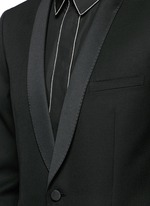 Satin shawl lapel wool tuxedo suit