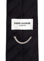 Club stripe silk skinny tie