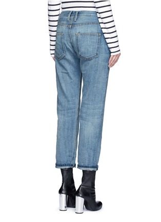 Back View - Click To Enlarge - Current/Elliott - 'The Boyfriend' straight leg cropped jeans